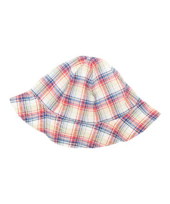 Blue Plaid Sunhat