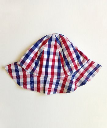 Red & Blue Plaid Sunhat