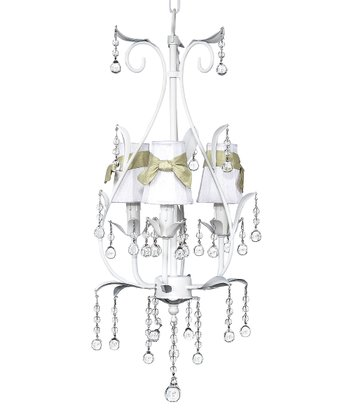 White & Green Pear Chandelier