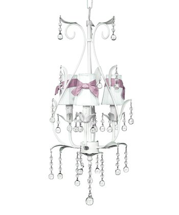 White & Pink Pear Chandelier