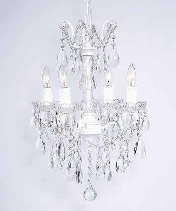 White Glass Center Chandelier
