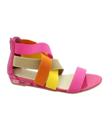 Fuchsia & Orange Donna Sandal