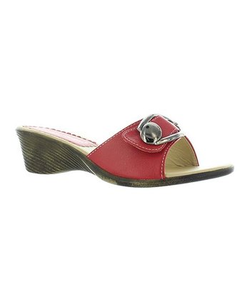 Red Buckle Annie Slide