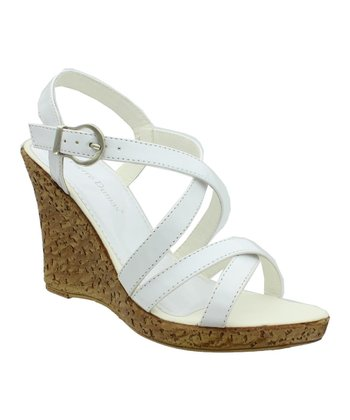 White Patent Alice Wedge