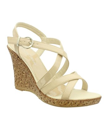 Nude Patent Alice Wedge