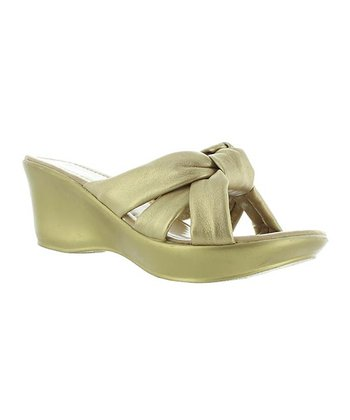 Gold Knot Affair Slide Wedge
