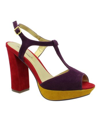 Purple & Red Bonnibel T-Strap Sandal