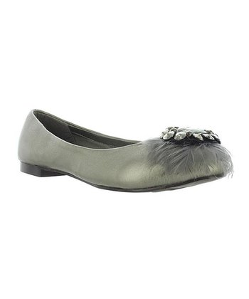Pewter Feather Maura Flat