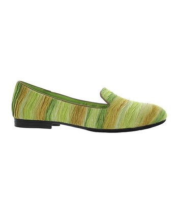 Lime Stripe Maggy Loafer