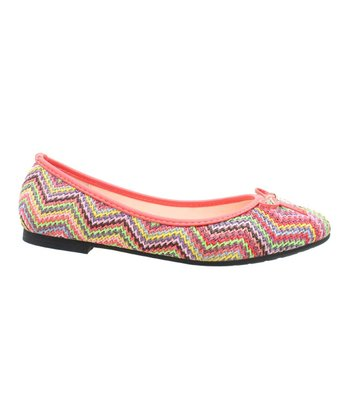 Pink Zigzag Junior Flat
