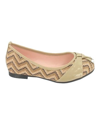 Beige Zigzag Junior Flat