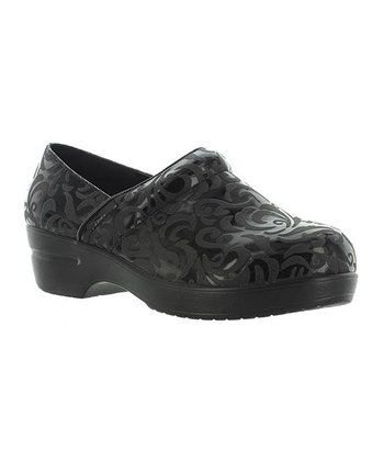 Black Embossed Rochele Clog