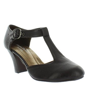 Brown Naples 10 T-Strap Pump