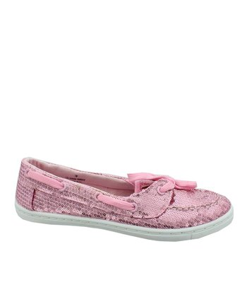 Pink Sequin Loafer