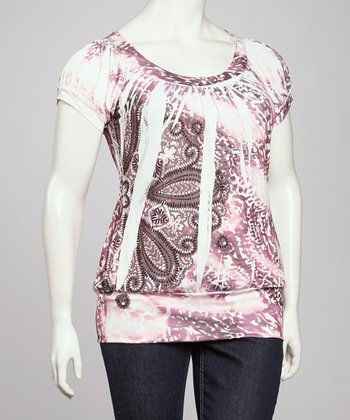 Pink Sublimation Crochet Top