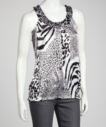Black & White Yoke Top