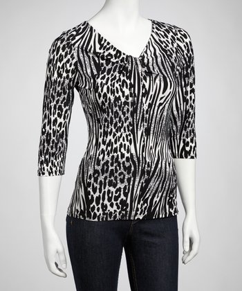 Black & White Animal Top