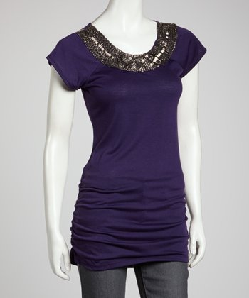 Purple Beaded Tunic