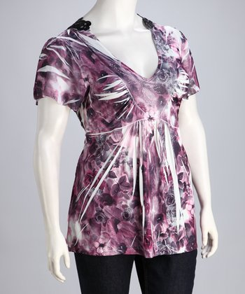 Pink Safari Sublimation Plus-Size Top