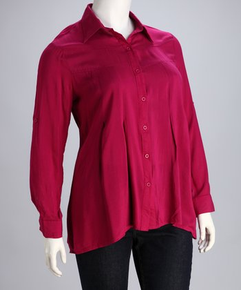Berry Plus-Size Blouse