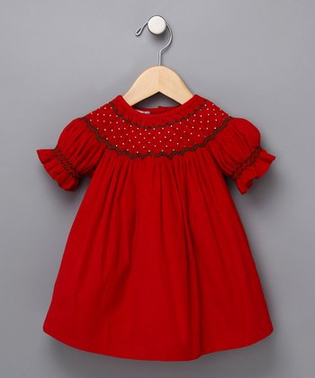 Christmas Hand Smocked Dress - Infant & Toddler
