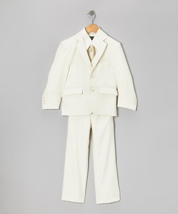 Off-White Five-Piece Suit Set - Toddler & Boys