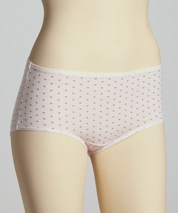 Pink Polka Dot Briefs - Women