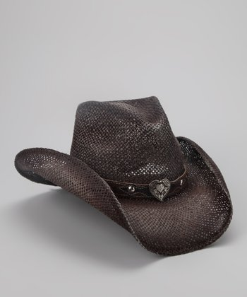 Brown My First Kiss Cowboy Hat - Kids