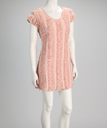 Dusty Pink Fringe Dress