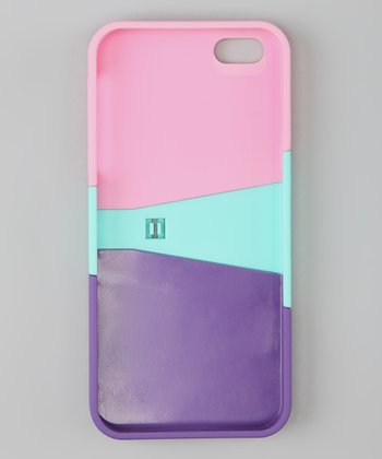 Pink & Purple Case & Screen Protector Set for iPhone 5