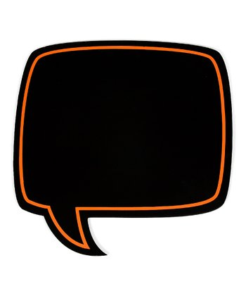Orange Chalkboard Conversation Bubble