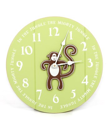 Green 'In the Jungle' Clock