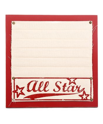 Red 'All Star' Memo Board