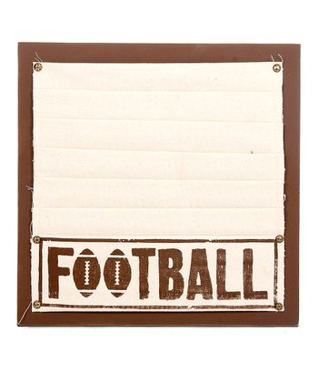 Brown 'Football' Memo Board