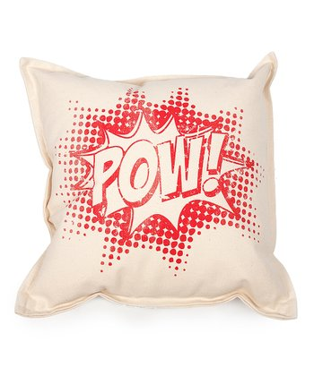 Red 'Pow!' Pillow