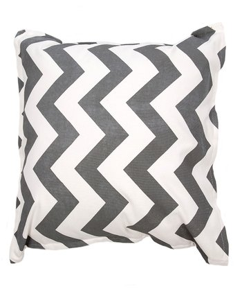 Gray & White Zigzag Pillow