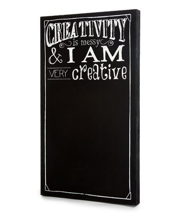 Black 'Creativity is Messy' Chalkboard Wall Art
