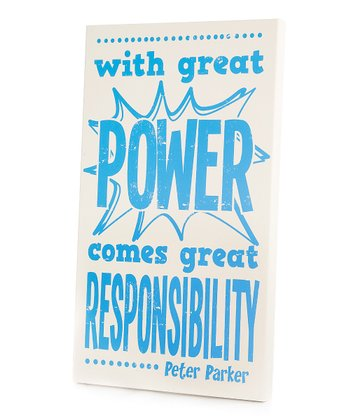 Blue 'Great Power' Wall Art
