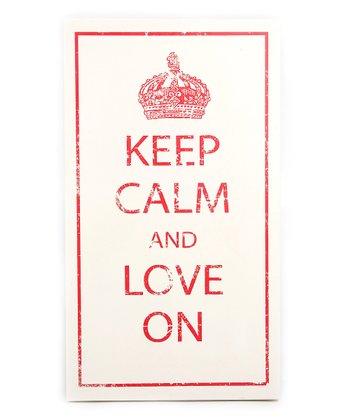 Red 'Keep Calm' Plaque