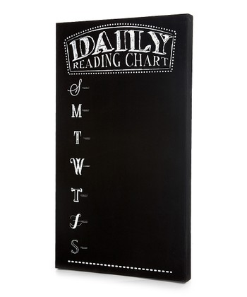 Black Chalkboard 'Daily Reading Chart' Wall Art