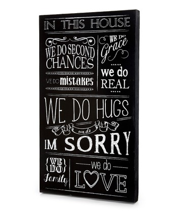 Black 'In This House We Do' Wall Art