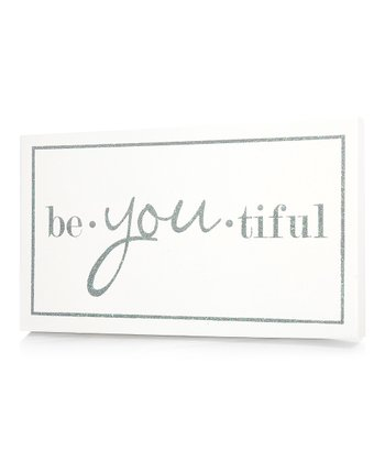 White 'Be.You.tiful' Wall Art