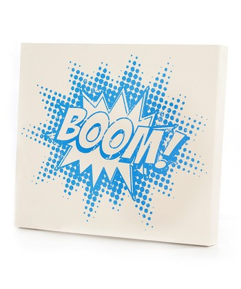 Blue 'Boom!' Wall Art