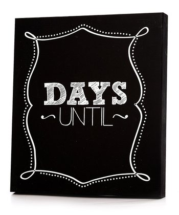 'Days Until' Chalkboard Wall Art