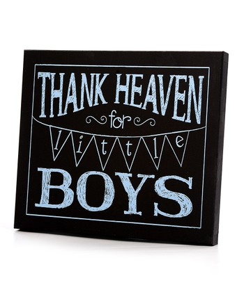 Black & Blue 'Thank Heaven for Little Boys' Wall Art
