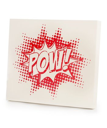Red 'Pow!' Wall Art