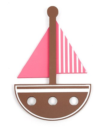 Brown & Pink Sailboat Wall Art