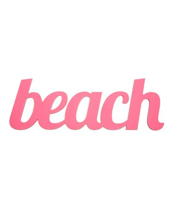 Bright Pink 'Beach' Wall Art