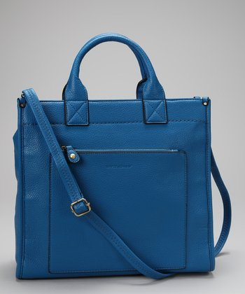 Blue Pocket Tote