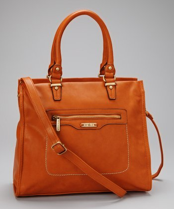 Orange Pocket Tote